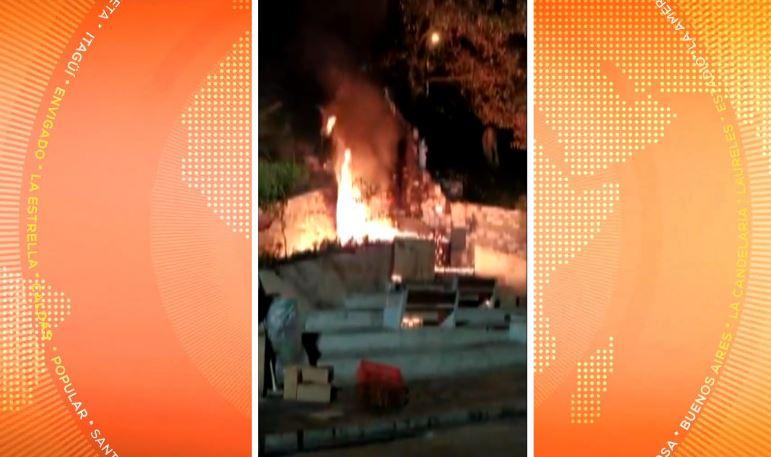 Se registró un incendio en el santuario de la Rosa Mística en La Aguacatala