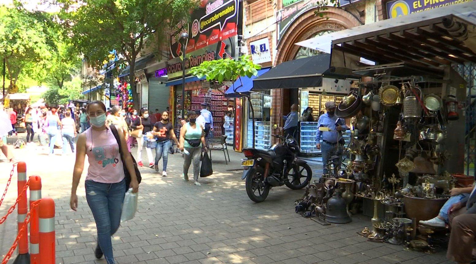 Comerciantes del Centro destacaron proceso de reactivación en Medellín