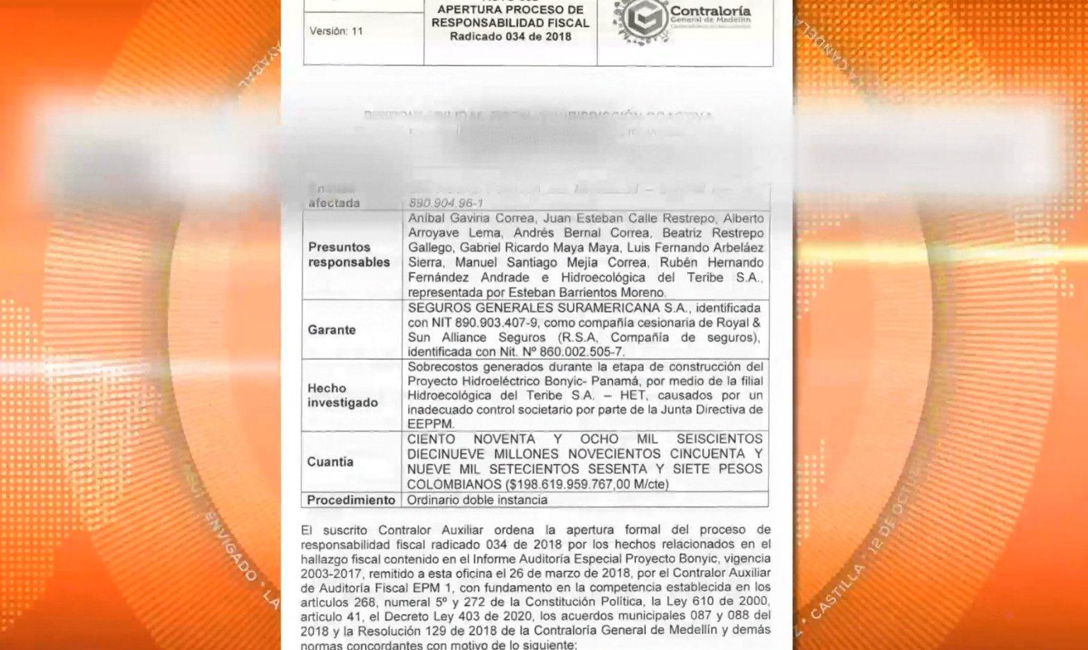 Proceso por responsabilidad fiscal contra exalcalde y exgerente de EPM
