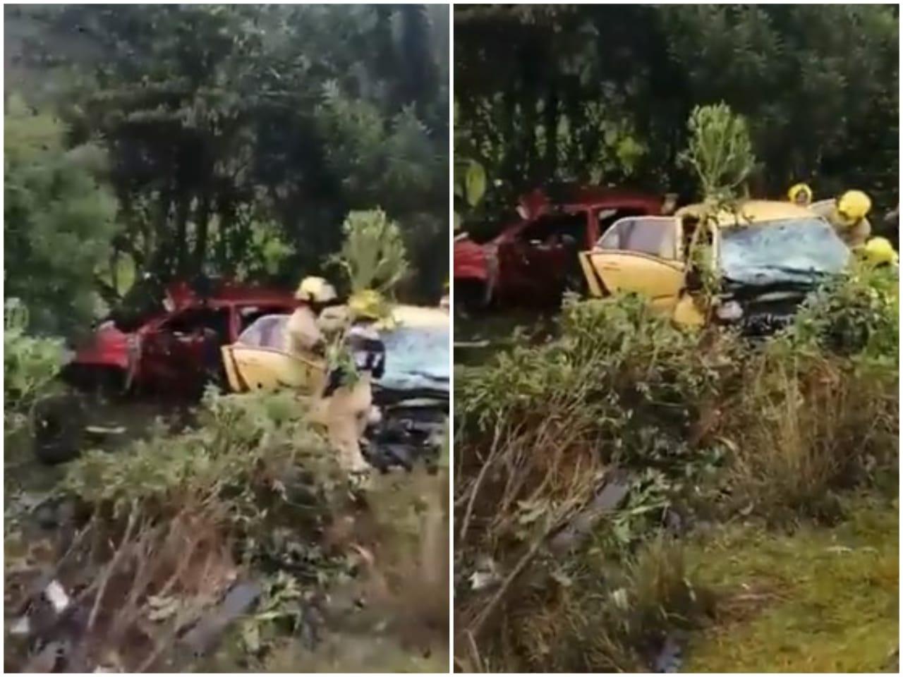 Choque de dos vehículos deja 5 personas muertas en el oriente antioqueño