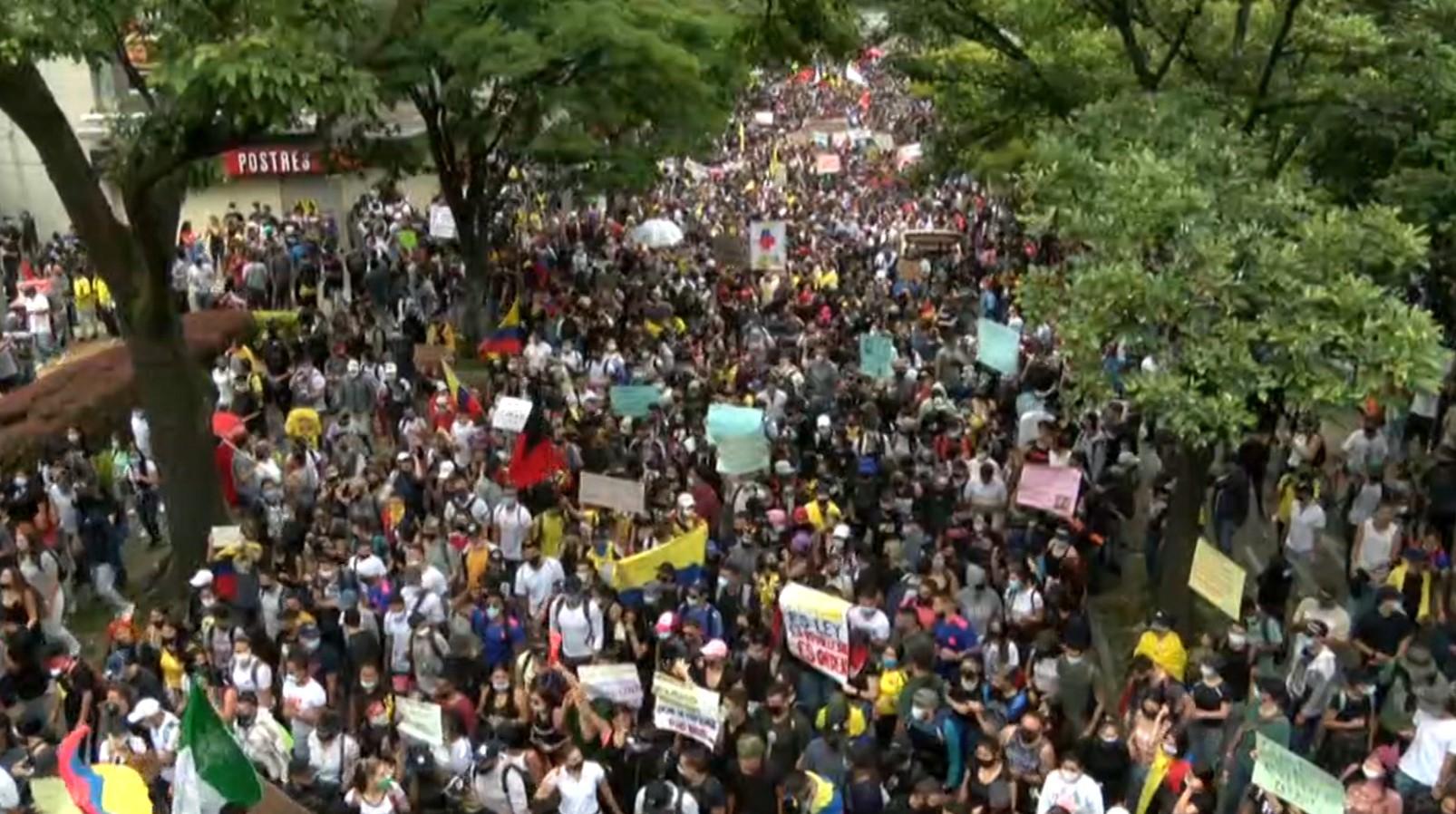 Protestas del 20 de julio dejaron 11 heridos en Medellín