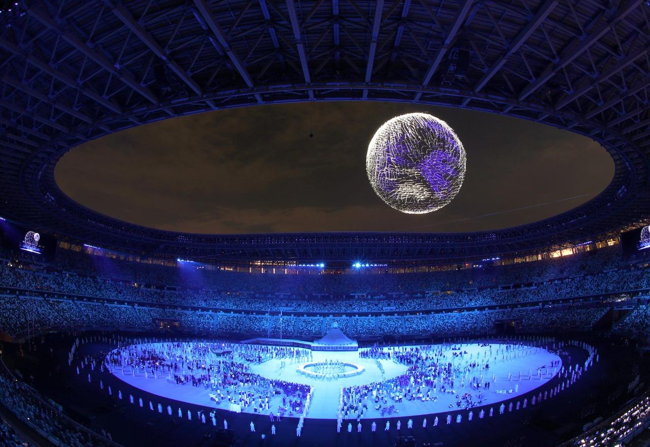 ¡Espectacular! show de drones en la inauguración de los Juegos Olímpicos Tokio 2020