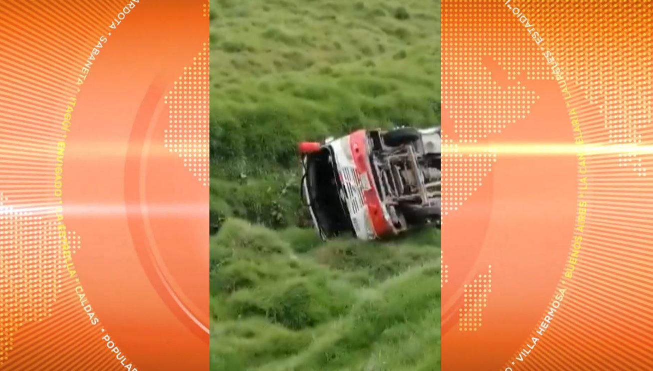 12 personas lesionadas dejó accidente en Santa Rosa de Osos