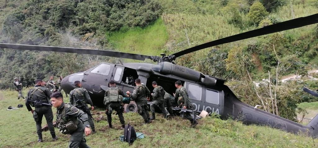 (Video) Helicóptero de la Policía Nacional se accidentó en Ituango