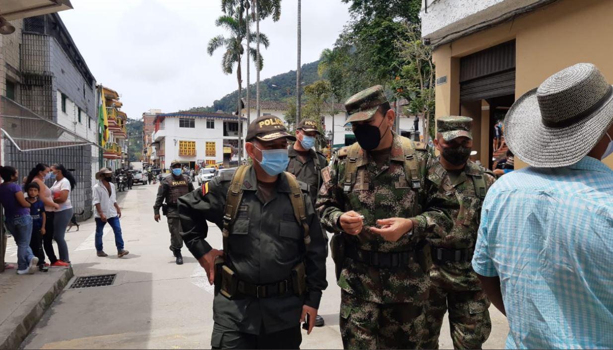 La Policía reforzó su presencia en el municipio de Ituango