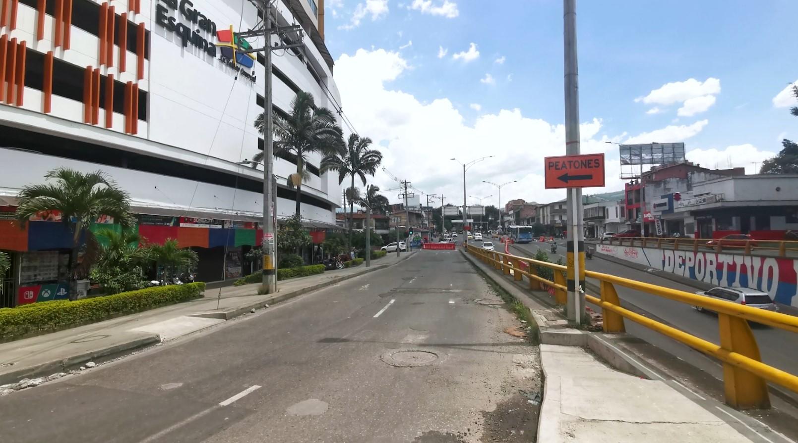 ¡Ojo! Cierre de la calzada sur de avenida San Juan con la 80