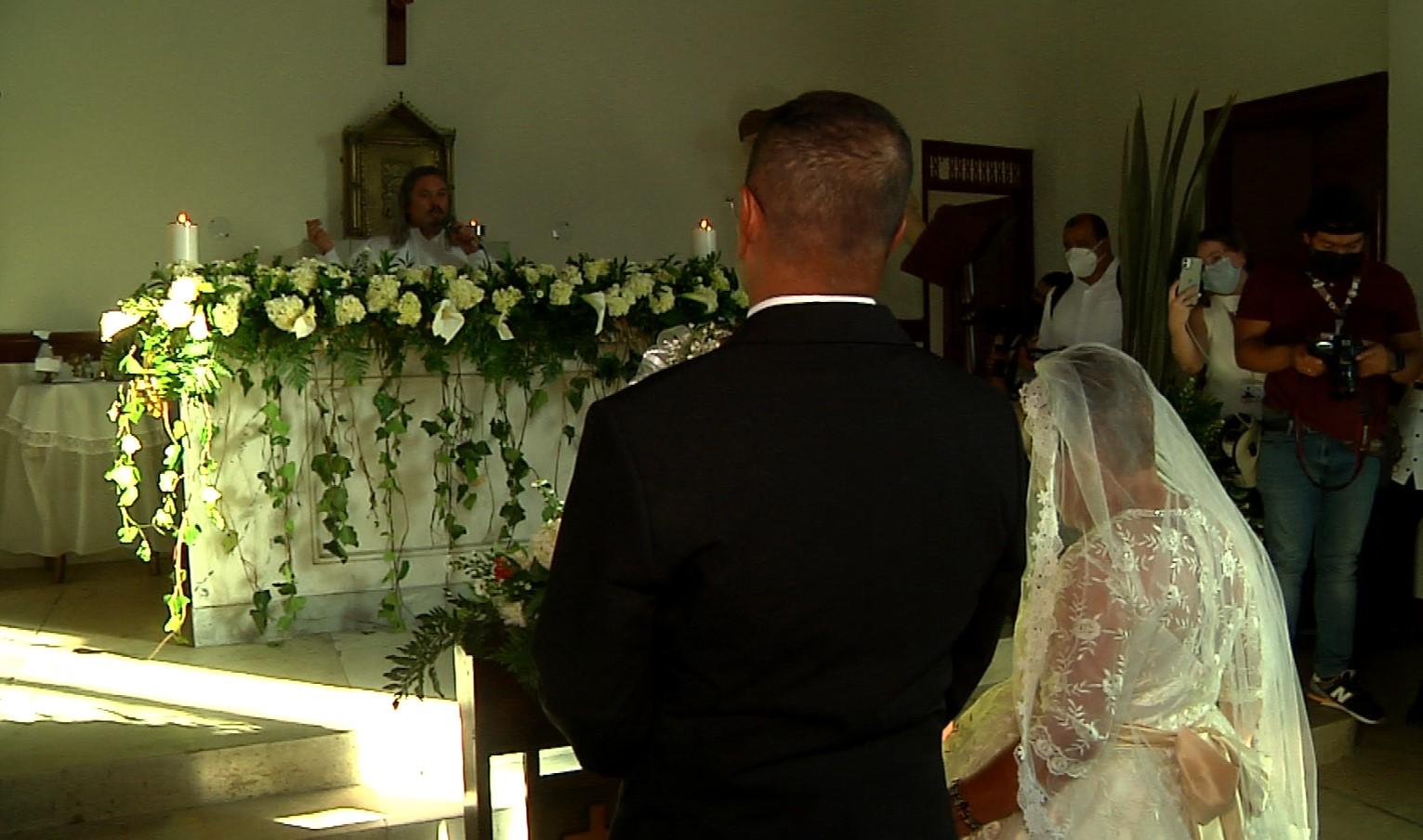 Berta y Héctor se juraron amor eterno en Belencito