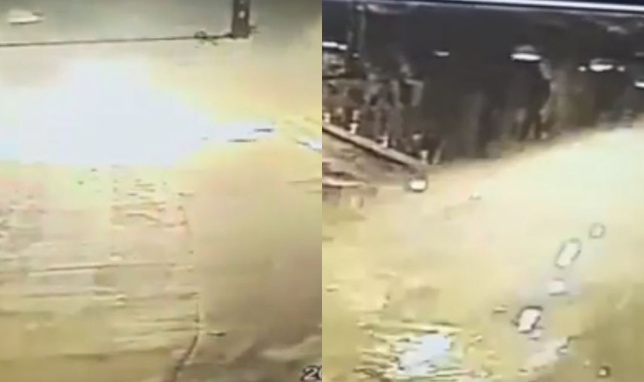 (Video) Fuerte explosión de un carrotanque con combustible en túnel