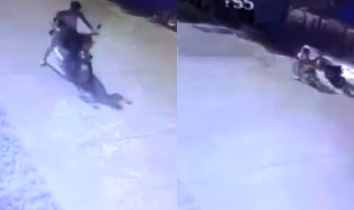 (Video) Ladrón dejó su bicicleta tirada para robar una moto