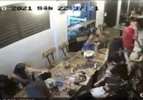 Robo masivo en el barrio Manila - captura de video