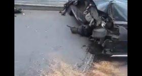 (Video) Fuerte accidente de tránsito se registro en Sabaneta